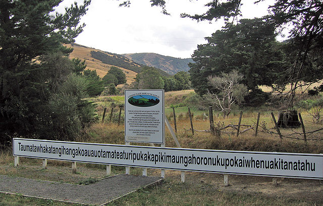 Hill with the longest name in New Zealand